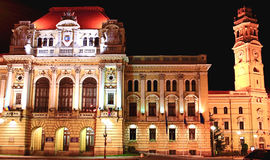 Stadshus av den Oradea staden Arkivfoton