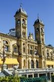 Stadshus av Donostia San Sebastian Spain Arkivfoto
