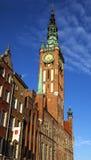 Stadshus av Gdansk Fotografering för Bildbyråer