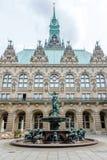Stadshus av Hamburg, Tyskland Fotografering för Bildbyråer