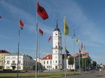 Stadshus av Mogilev Vitryssland Royaltyfria Bilder