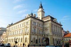 Stadshus av Novi Sad, Serbien Royaltyfri Bild