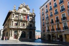 Stadshus av Pamplona ( Spain) fotografering för bildbyråer