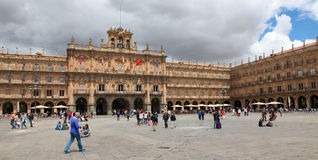 Stadshus av Salamanca, Spanien Royaltyfria Bilder