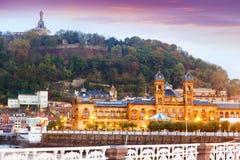 Stadshus av San Sebastian spain Arkivbild