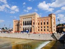 Stadshus av Sarajevo Arkivfoton