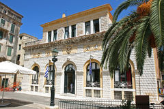 Stadshus av staden av Korfu, Grekland Royaltyfri Bild
