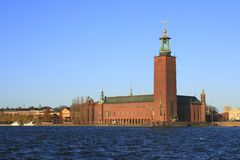 Stadshus av Stockholm Royaltyfri Bild