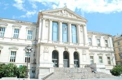 Stadshus av trevligt, Frankrike arkivbild