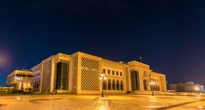 Stadshus av Tunis på den Kasbah fyrkanten Tunisien Nordafrika royaltyfri bild