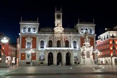 Stadshus av Valladolid, Spanien Arkivbilder