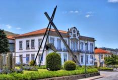 Stadshus av Vila Nova de Cerveira Arkivbild