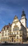 Stadshus av Werdau, Tyskland arkivfoton