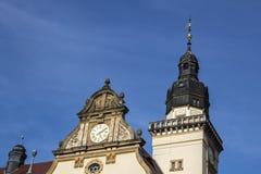 Stadshus av Werdau, Tyskland royaltyfri foto