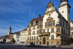 Stadshus av Werdau, Tyskland royaltyfri fotografi