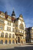 Stadshus av Werdau, Tyskland fotografering för bildbyråer