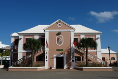 Stadshus Bermuda Fotografering för Bildbyråer