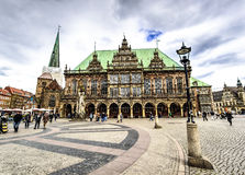 Stadshus Bremen, Tyskland Arkivbild