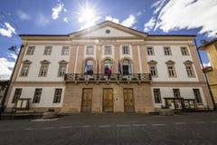 Stadshus - Cortina d'Ampezzo Royaltyfria Foton