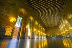 Stadshus det guld- rummet Arkivbilder