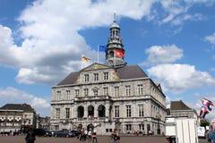 Stadshus för Nederländerna Maastricht Arkivfoton
