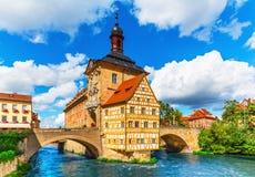 Stadshus i Bamberg, Tyskland Arkivbilder