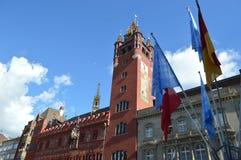 Stadshus i Basel Arkivfoto