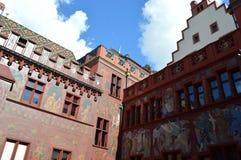Stadshus i Basel Arkivbild