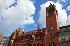 Stadshus i Basel Arkivfoton