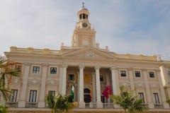 Stadshus i Cadiz Arkivfoto