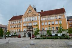 Stadshus i Ceskyen Tesin arkivbild