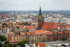 Stadshus i den Hannover mitten Arkivfoto