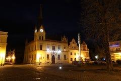 stadshus i den Vidnava staden royaltyfria foton
