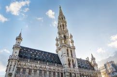 Stadshus i det storslagna stället, Bryssel, Belgien Royaltyfri Foto