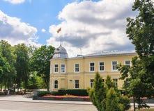 Stadshus i Druskininkai lithuania Arkivfoton