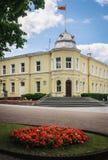 Stadshus i Druskininkai lithuania Arkivbild