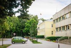 Stadshus i Druskininkai lithuania Royaltyfri Foto