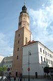 Stadshus i Glogow, Polen arkivbild