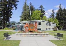 Stadshus i hopp, British Columbia Arkivbilder