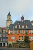 Stadshus i Idstein, Tyskland Arkivbilder