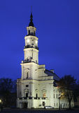 Stadshus i Kaunas lithuania fotografering för bildbyråer