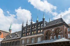 Stadshus i Luebeck, Tyskland Fotografering för Bildbyråer