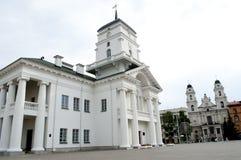 Stadshus i Minsk fotografering för bildbyråer