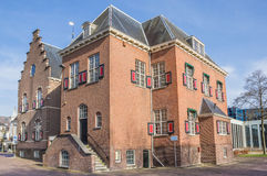 Stadshus i mitten av Veendam Royaltyfri Foto