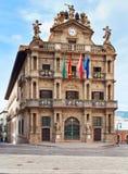 Stadshus i Pamplona, Navarra, Spanien Arkivfoto