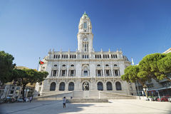 Stadshus i porto Portugal Royaltyfria Bilder