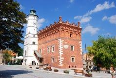 Stadshus i Sandomierz Arkivbilder