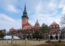 Stadshus i Subotica, Serbia Arkivfoto