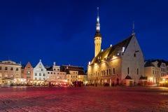 Stadshus i Tallinn Estland royaltyfri fotografi