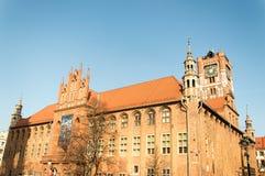 Stadshus i Torun, Polen Arkivbilder